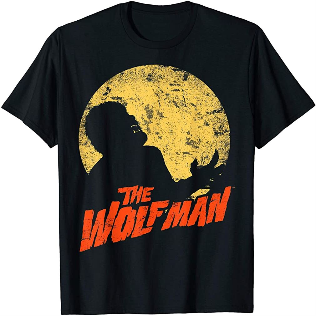 The Wolf Man Moonlit Silhouette T-shirt Plus Size Up To 5xl