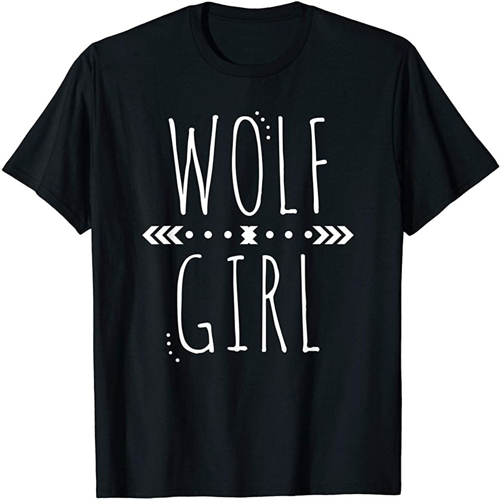 Wolf Girl Cute Wolves Howling T-shirt Plus Size Up To 5xl