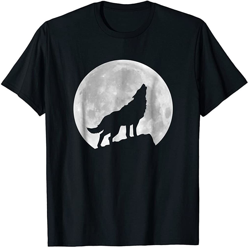 Wolf Howling At Moon Spirit Animal T-shirt Size Up To 5xl