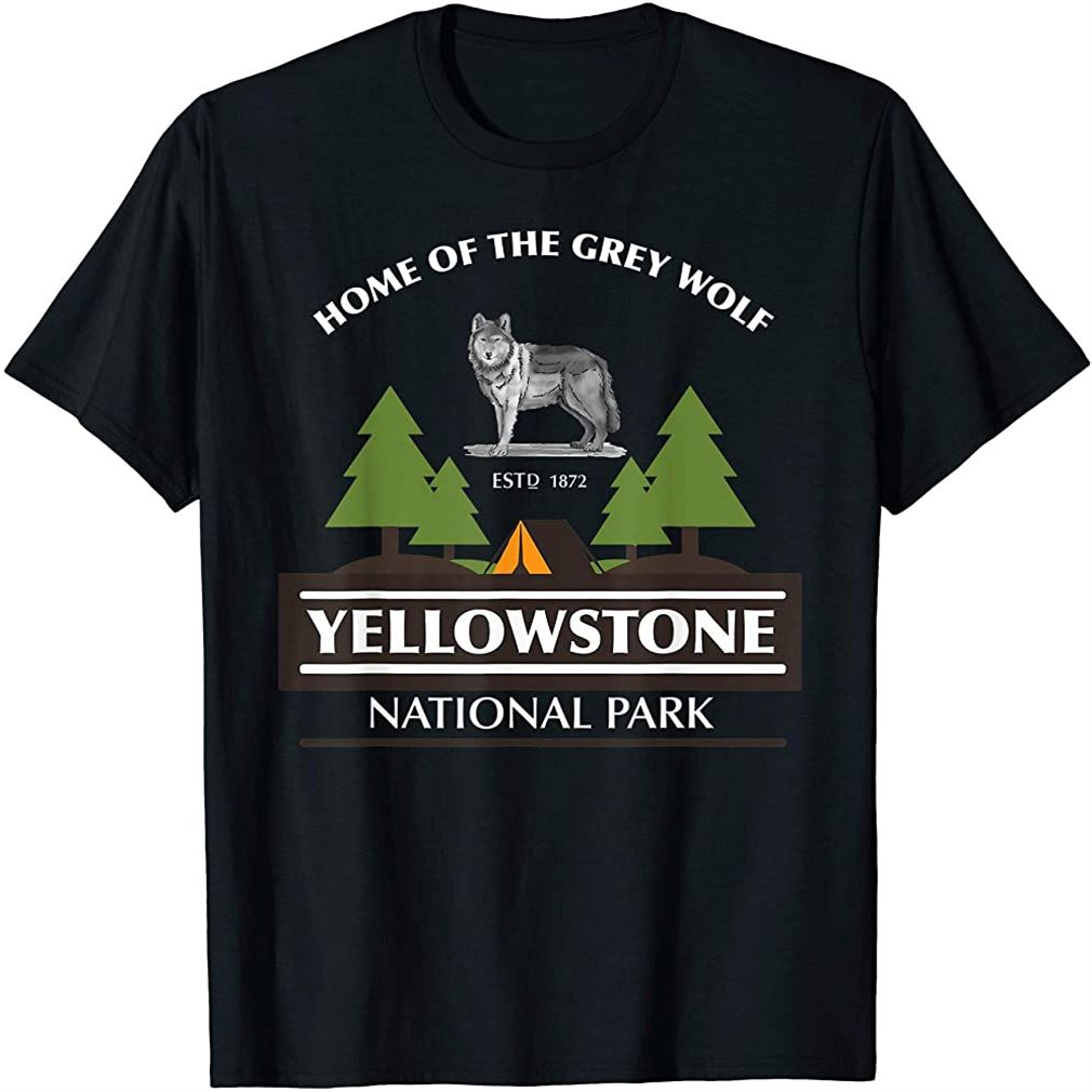 Wolf Yellowstone Park T Shirt Boys Men Girls Women Youth Plus Size Up To 5xl
