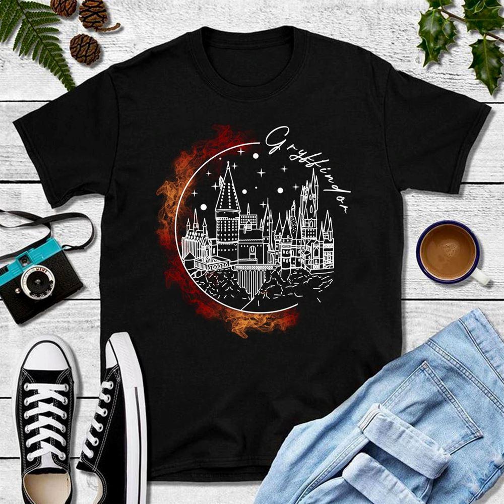 Gryffindor T-shirt Birthday Shirts Harry Fan Shirt From First To Last Hogwarts Shirt Pottery Shirts Birthday Gift