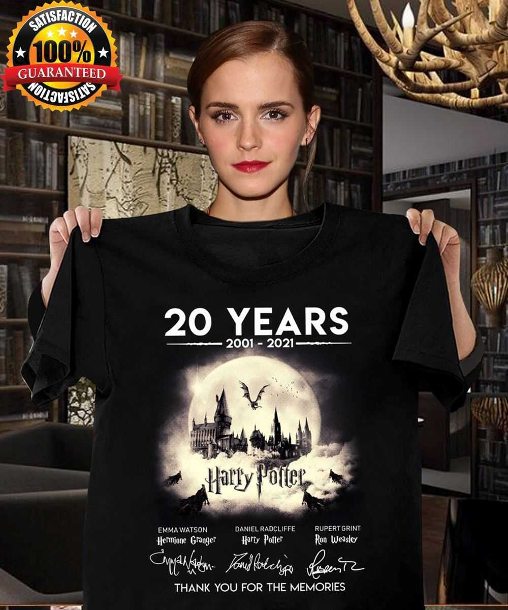 Harry Movie 20 Years Anniversary Thank You For The Memories Unisex T-shirt