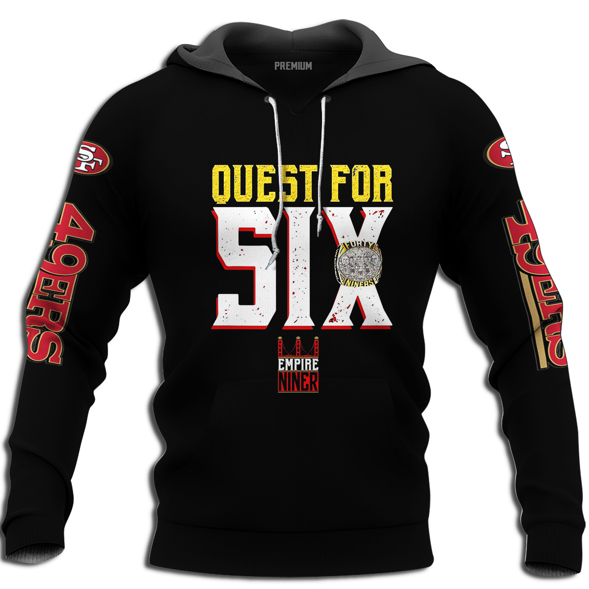 San Francisco 49ers Quest For Six T-shirt Plus Size Up To 5xl