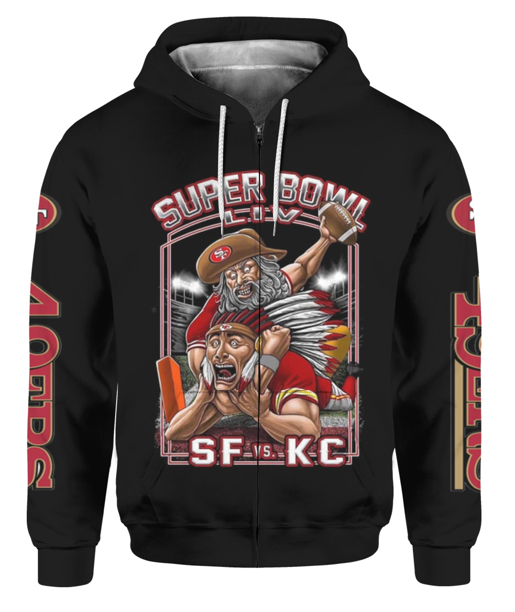 Super Bowl Liv Matchup Between The San Francisco 49ers And Kansas City Chiefs Full Size Up To 5xl