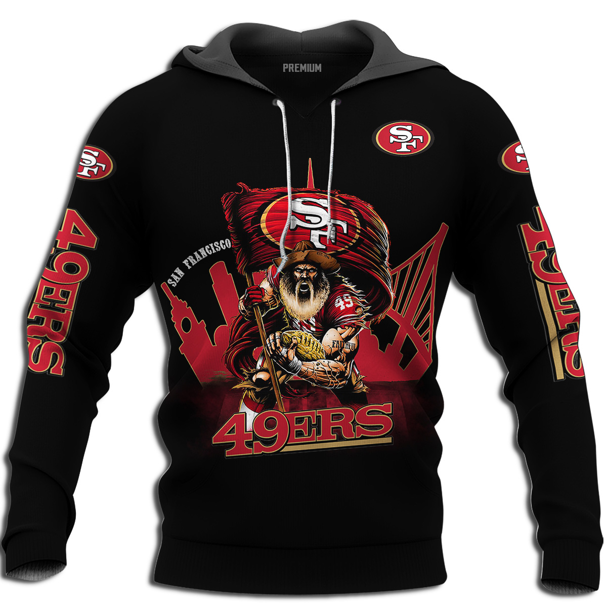 Mens Nfl San Francisco 49ers Super Bowl Liv Champions Hoodie Plus Size Up To 5xl