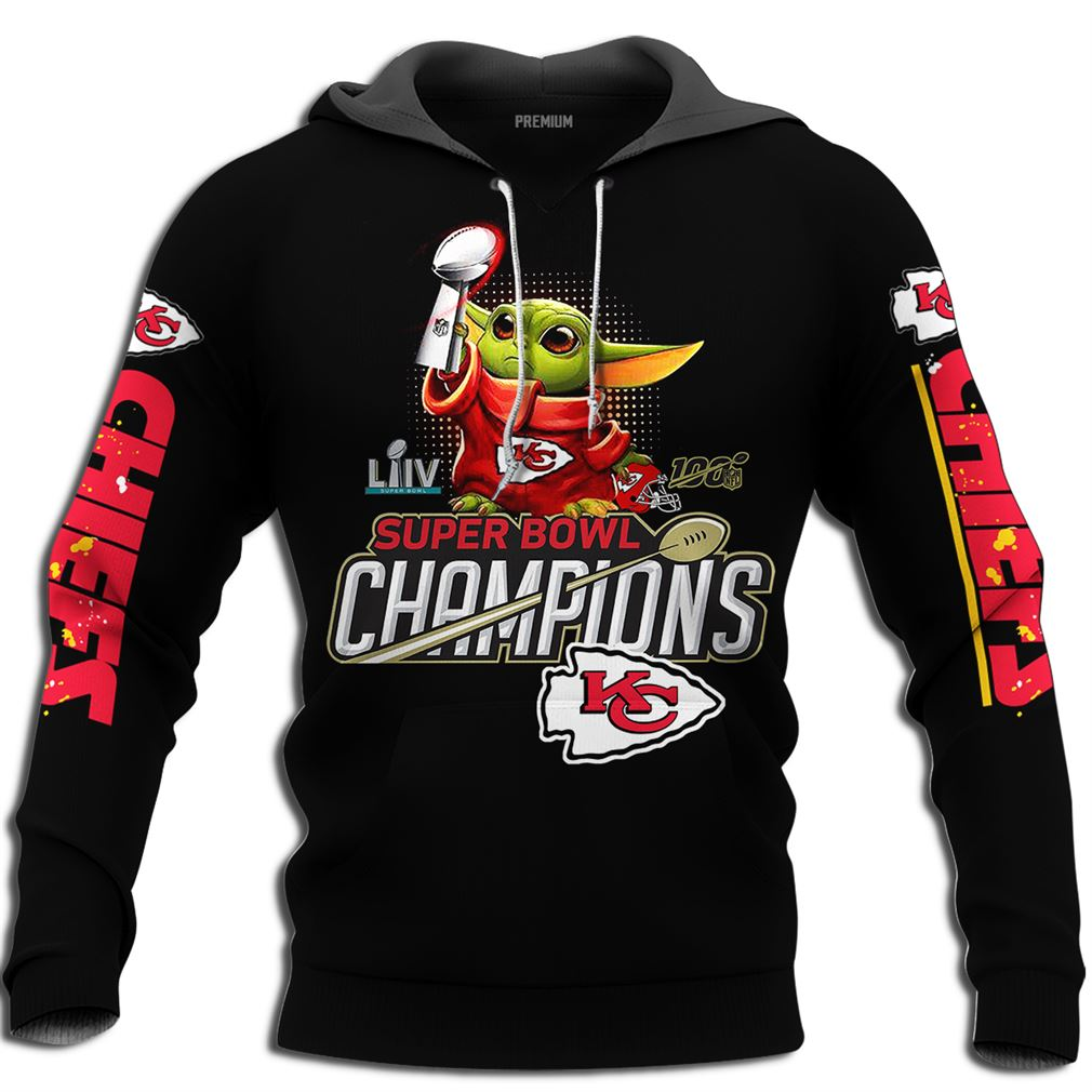 Baby Yoda Kansas City Chiefs 2020 Super Bowl Champions Size Up To 5xl