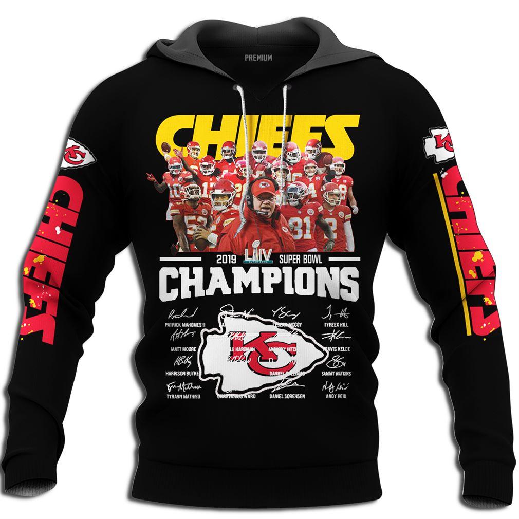 Kansas City Chiefs 2019 Super Bowl Liv Champions Plus Size Up To 5xl