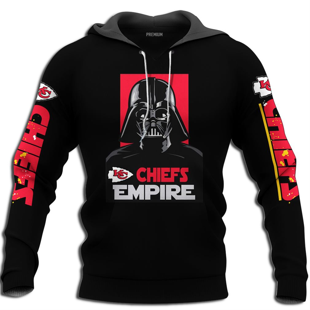 Kansas City Chiefs Empire Darth Vader 3ds Full Size Up To 5xl