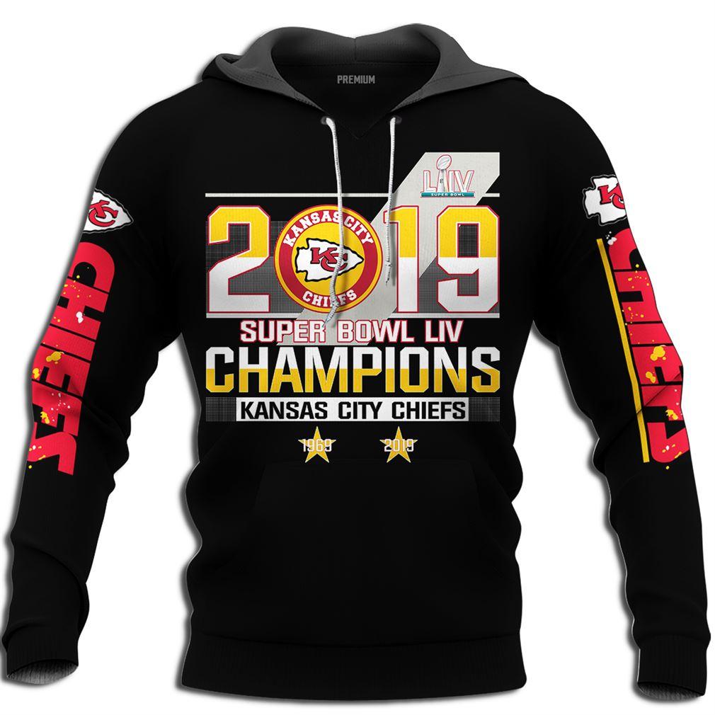 Kansas City Chiefs Nfl 2019 Super Bowl Liv Champions Full Size Up To 5xl