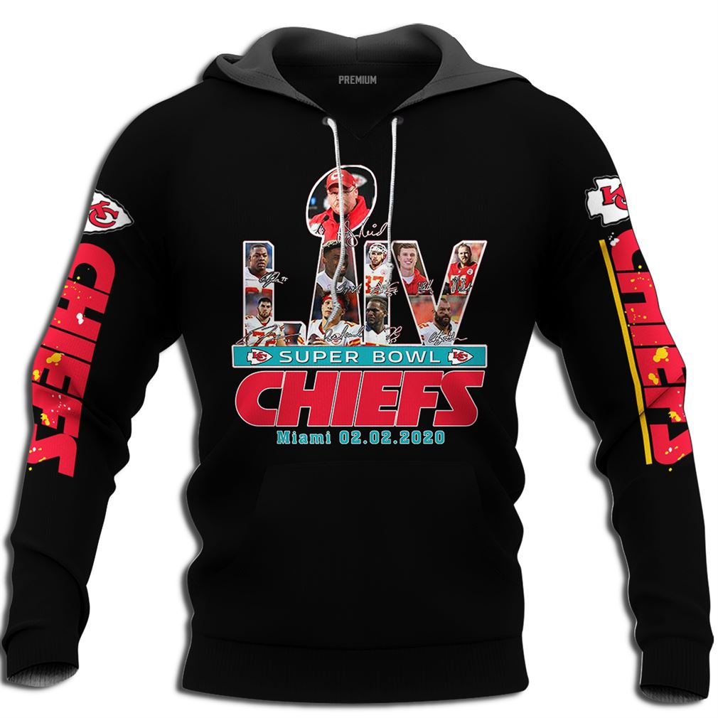 Kansas City Chiefs Nfl Super Bowl Liv Champions Full Size Up To 5xl