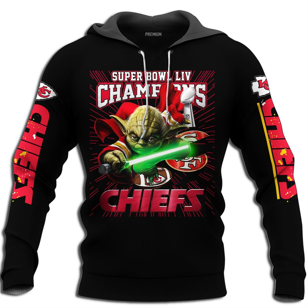 Mens Kansas City Chiefs Master Yoda Nfl Super Bowl Liv Champions Size Up To 5xl