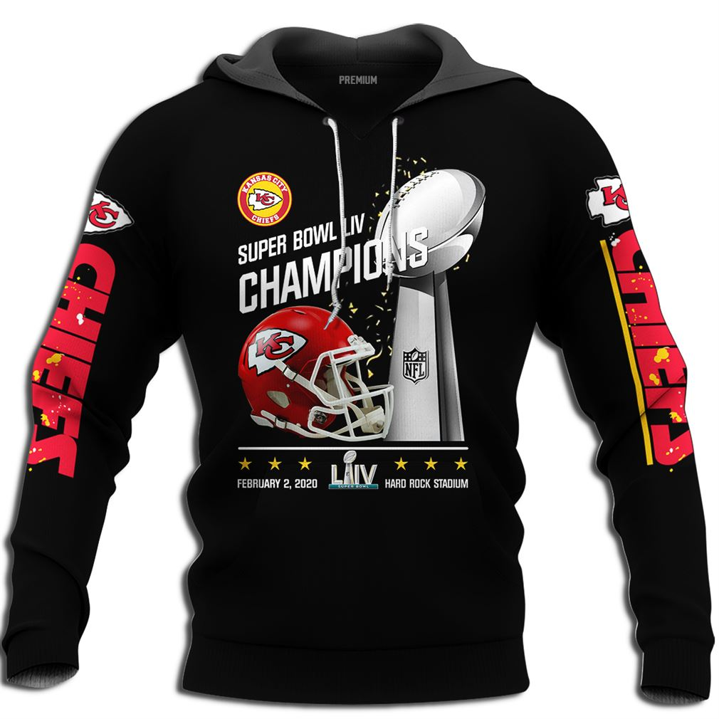 Mens Kansas City Chiefs Nfl Super Bowl Liv 2020 Champions Full Size Up To 5xl