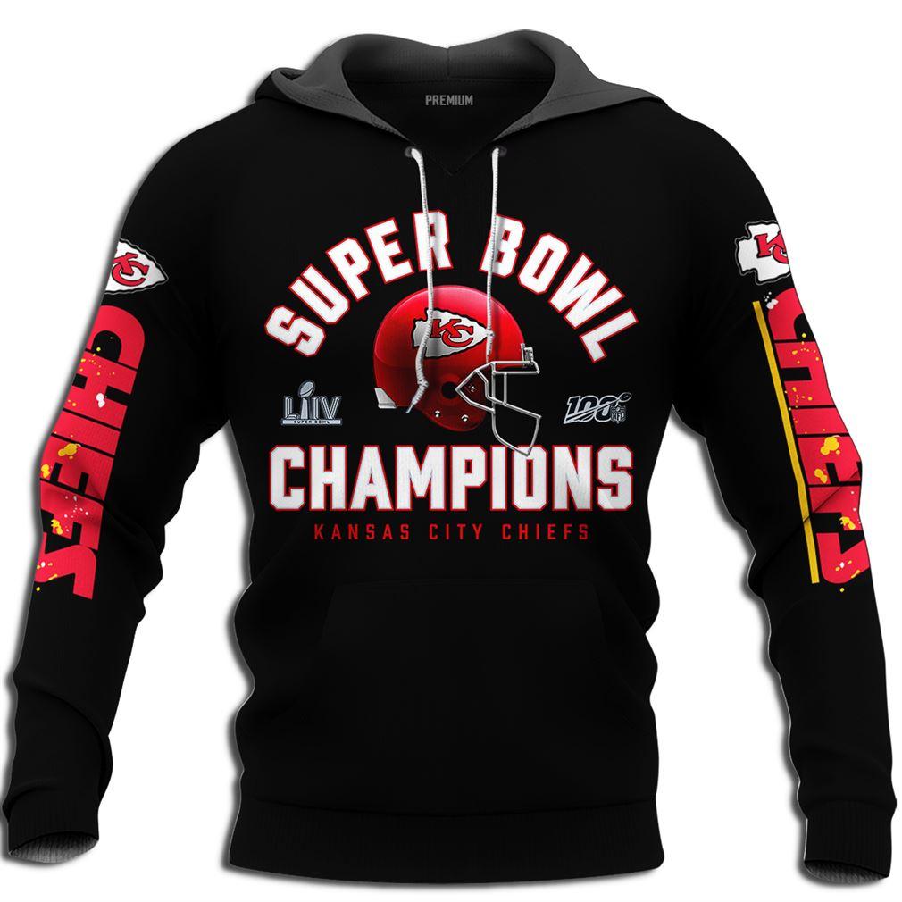 Mens Kansas City Chiefs Nfl Super Bowl Liv Champions Full Size Up To 5xl