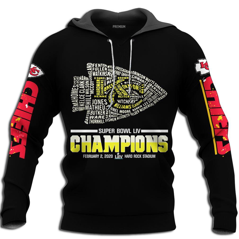 Mens Super Bowl Champions Kansas City Chiefs Super Bowl Champions 2020 Size Up To 5xl