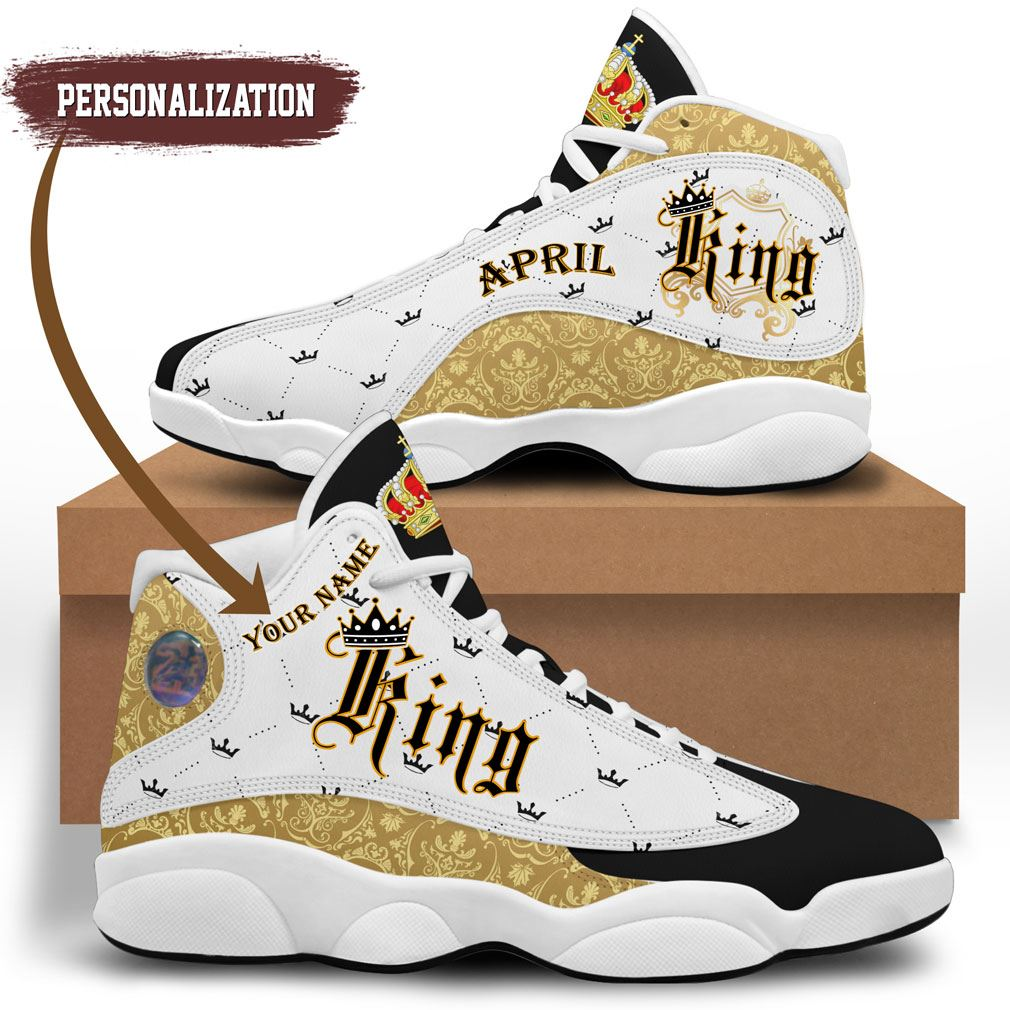 April King Jordan 13 Shoes Personalized Birthday Sneaker Sport