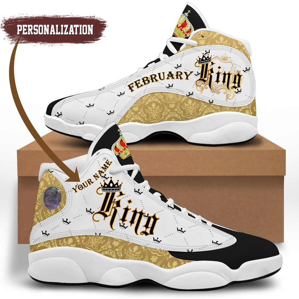 February King Jordan 13 Shoes Personalized Birthday Sneaker Sport