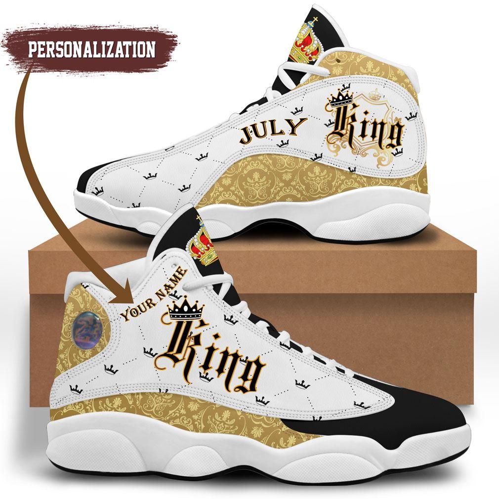 July King Jordan 13 Shoes Personalized Birthday Sneaker Sport