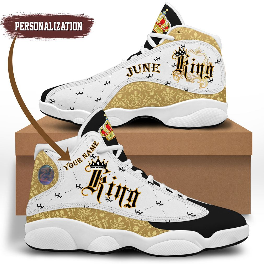June King Jordan 13 Shoes Personalized Birthday Sneaker Sport