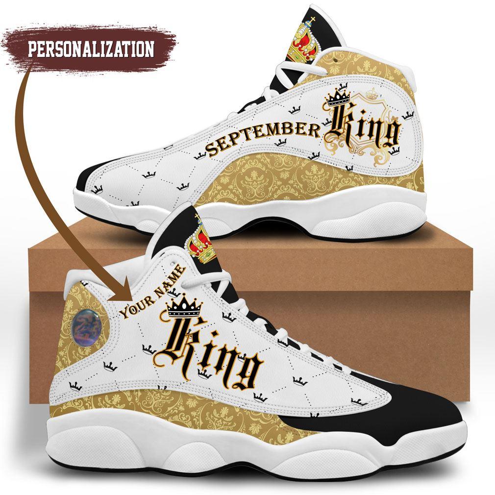September King Jordan 13 Shoes Personalized Birthday Sneaker Sport
