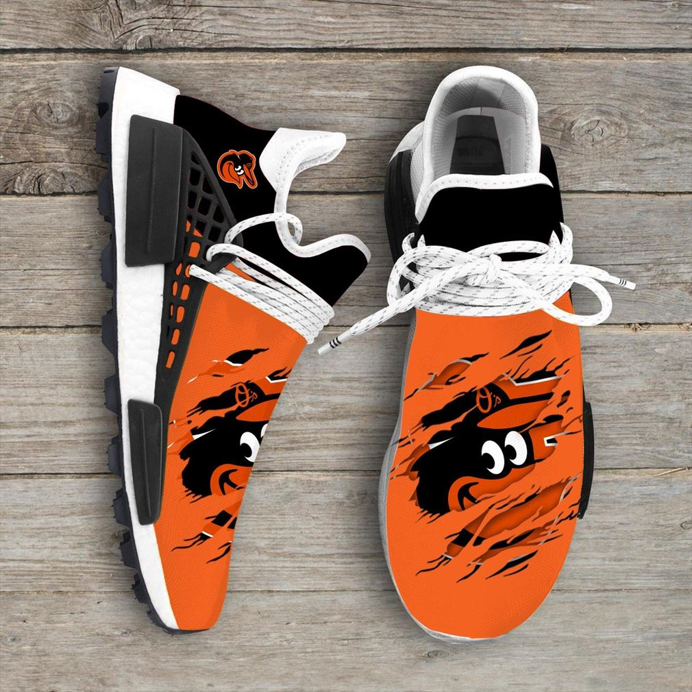 Baltimore Orioles Mlb Nmd Human Race Sport Shoes