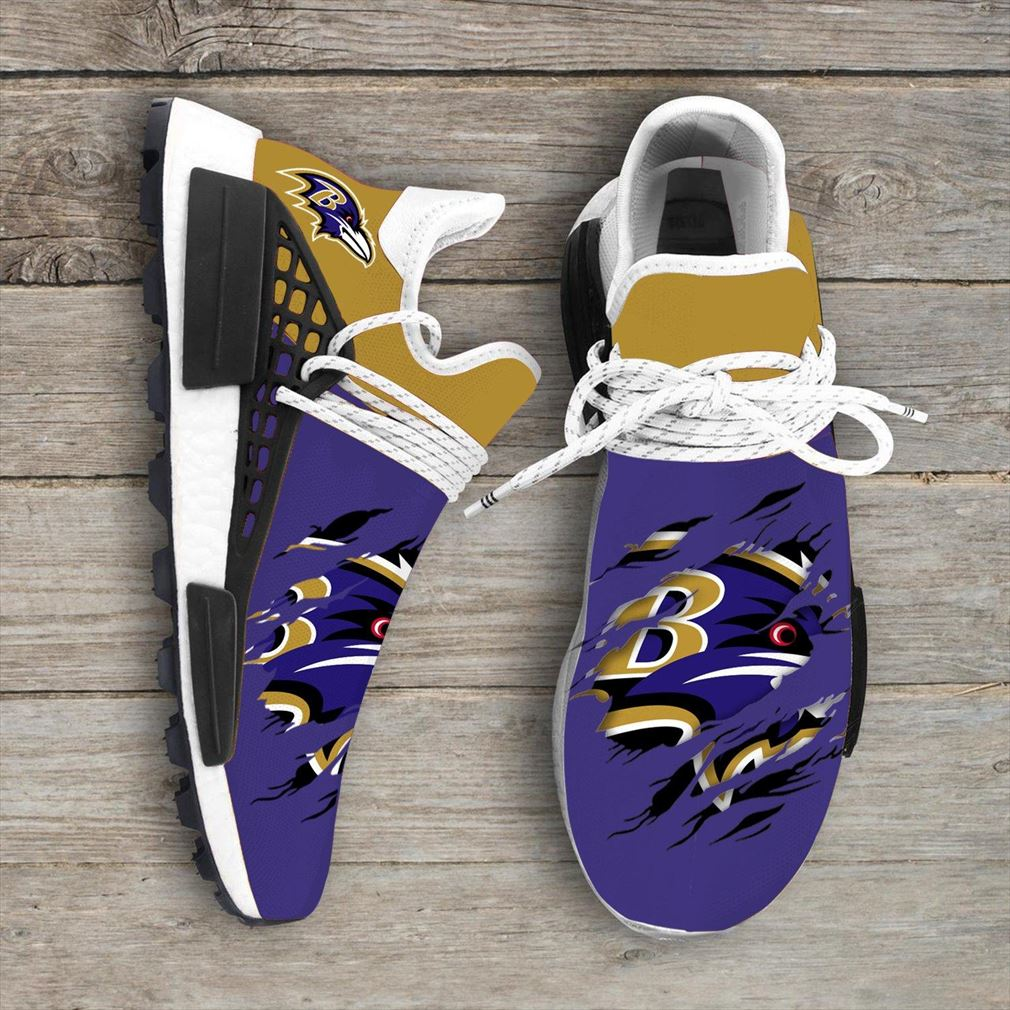 Baltimore Ravens Nfl Sport Teams Nmd Human Race Sneakers Sport Shoes Running Shoes Vip