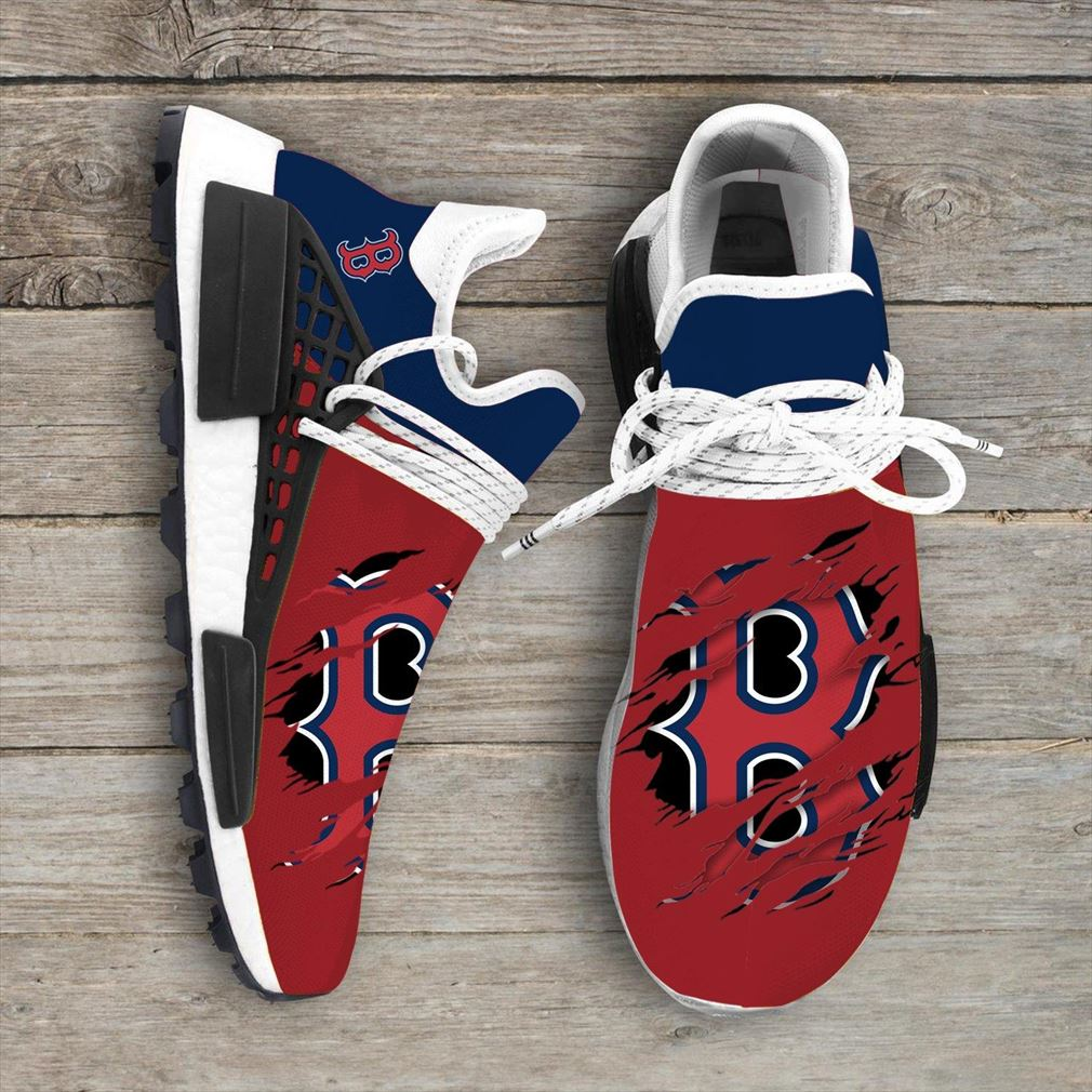 Boston Red Sox Mlb Sport Teams Nmd Human Race Sneakers Sport Shoes Running Shoes