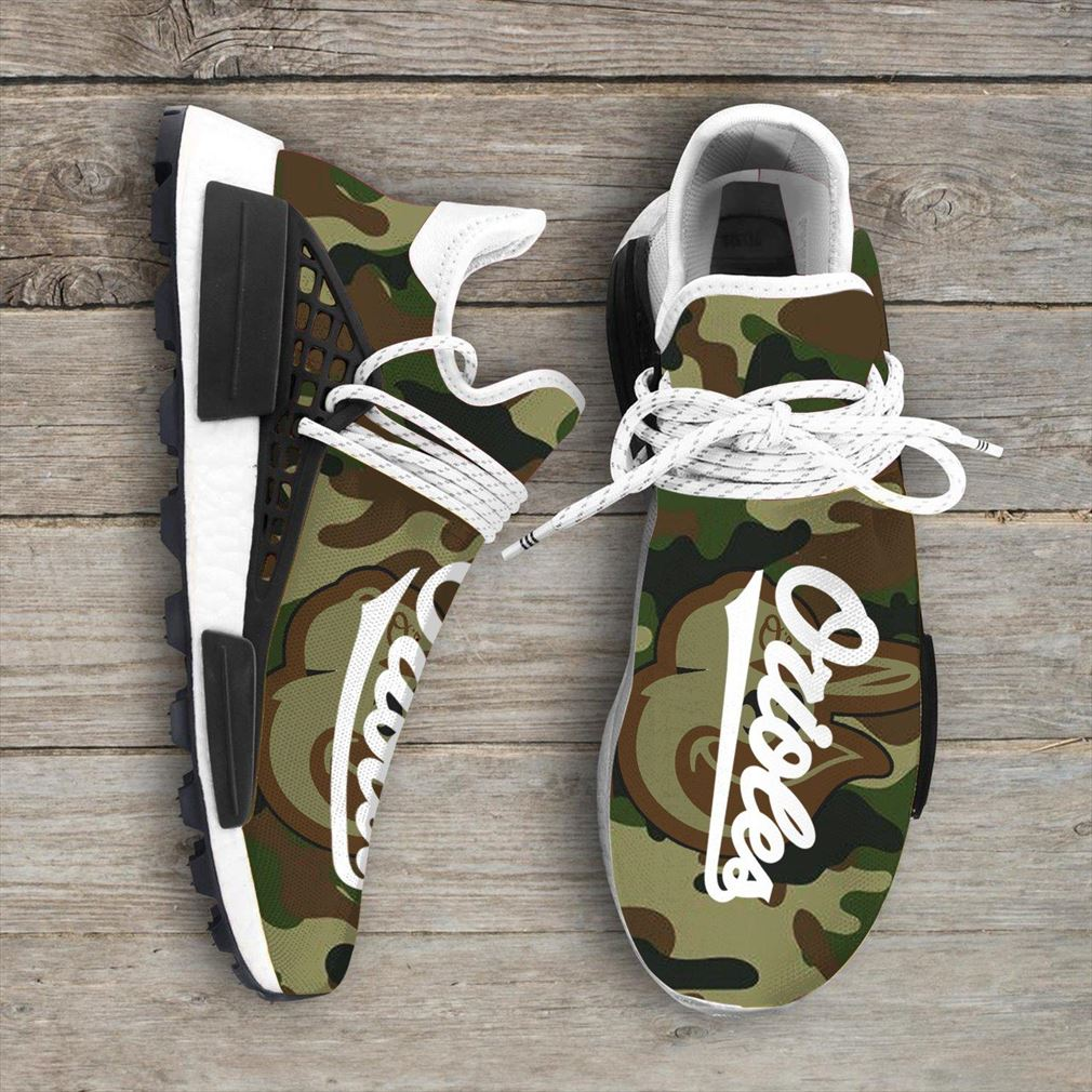 Camo Camouflage Baltimore Orioles Mlb Nmd Human Race Sneakers Sport Teams