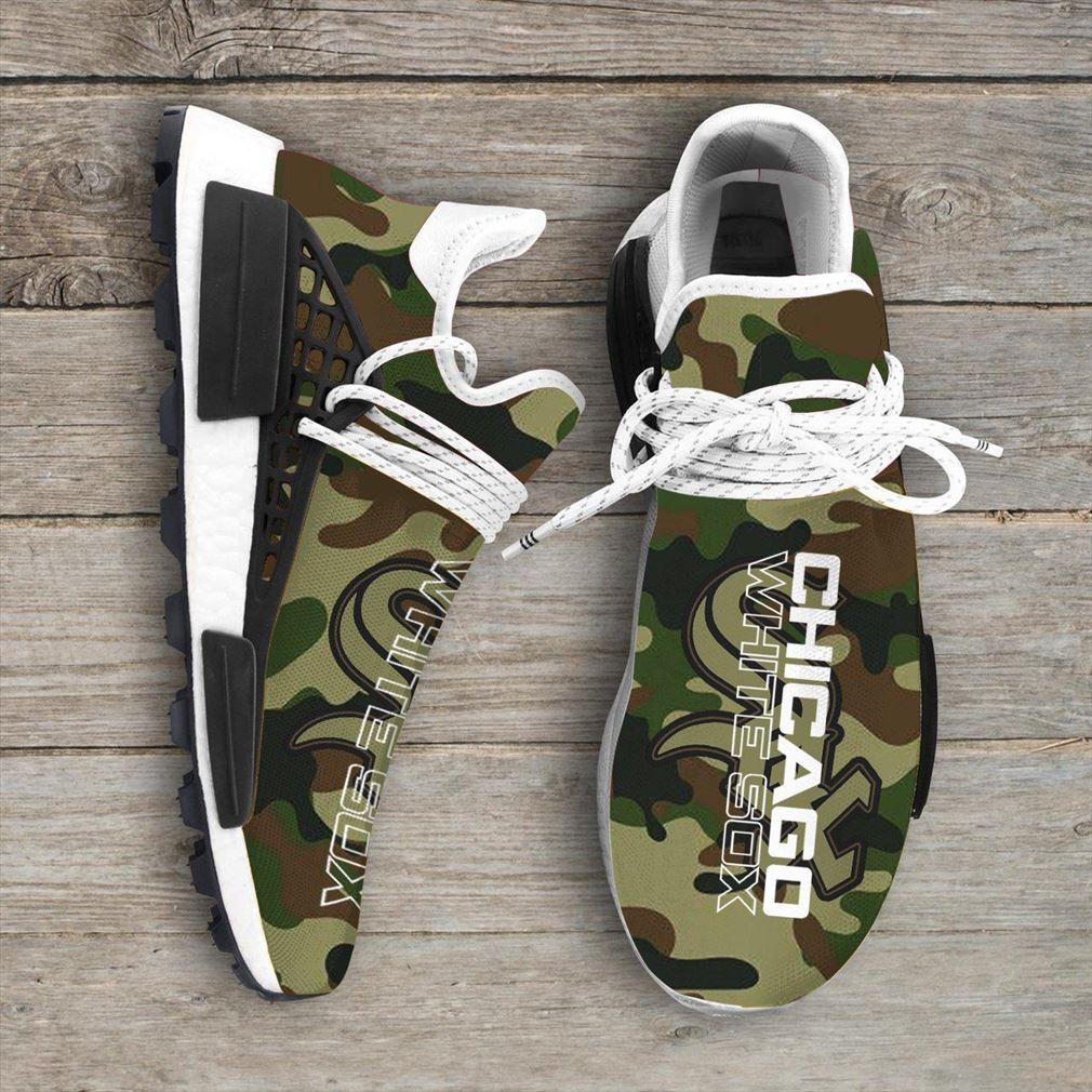 Camo Camouflage Chicago White Sox Mlb Nmd Human Race Sneakers Sport Teams