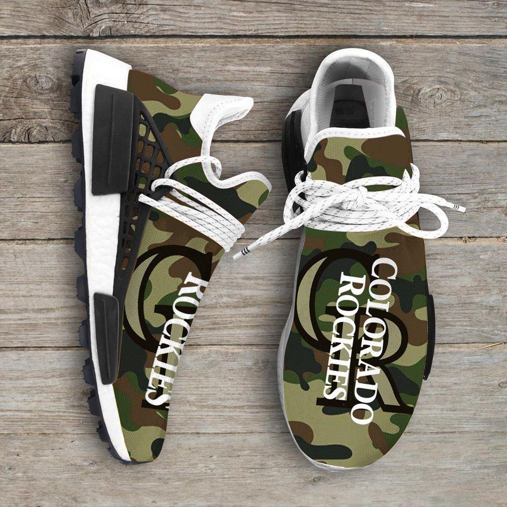 Camo Camouflage Colorado Rockies Mlb Nmd Human Race Sneakers Sport Teams