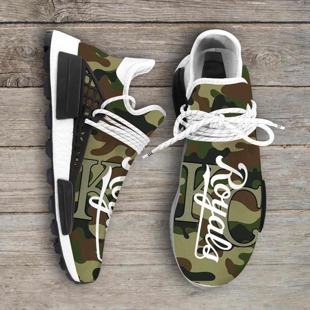 Camo Camouflage Kansas City Royals Mlb Nmd Human Race Sneakers Sport Teams