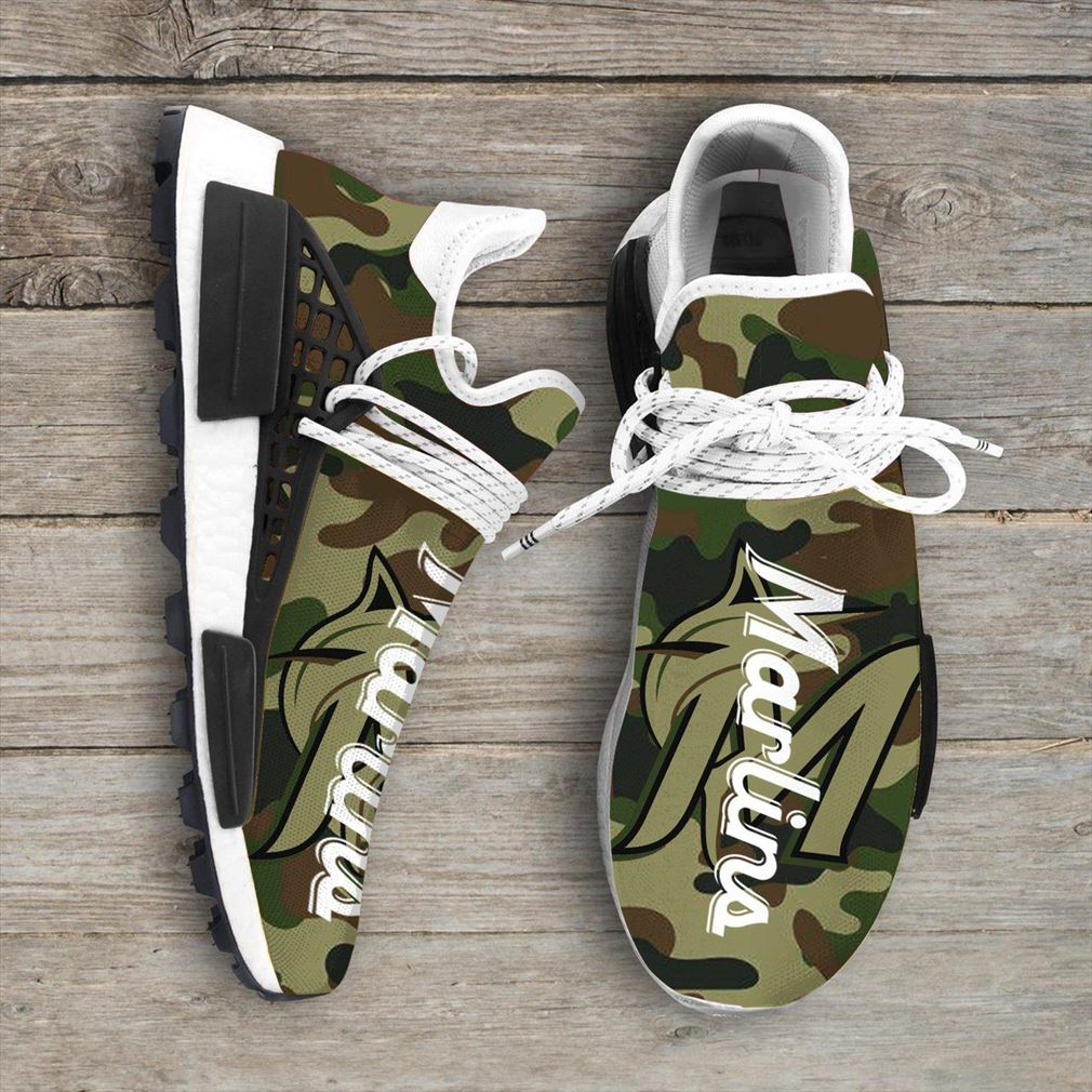 Camo Camouflage Miami Marlins Mlb Sport Teams Nmd Human Race Sneakers Shoes