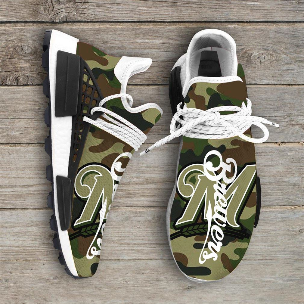 Camo Camouflage Milwaukee Brewers Mlb Sport Teams Nmd Human Race Sneakers Shoes