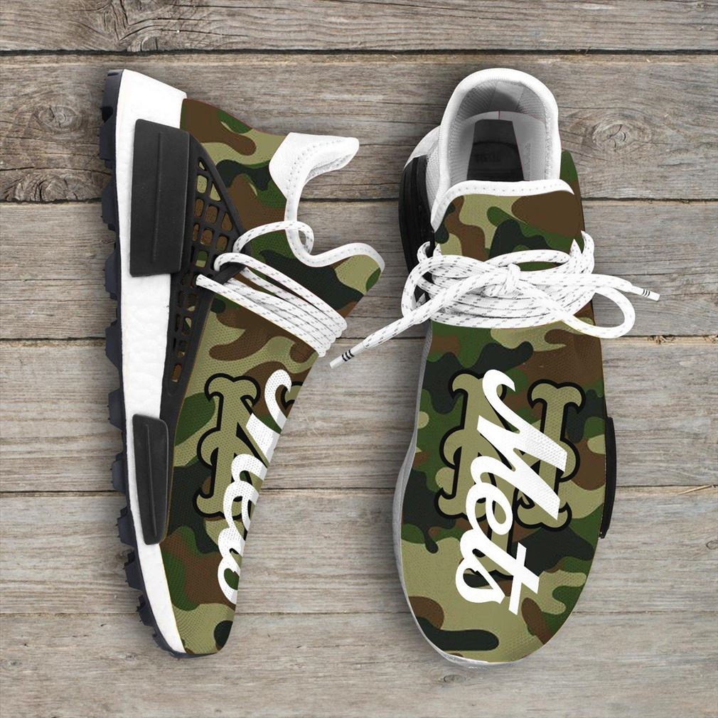 Camo Camouflage New York Mets Mlb Sport Teams Nmd Human Race Sneakers Shoes