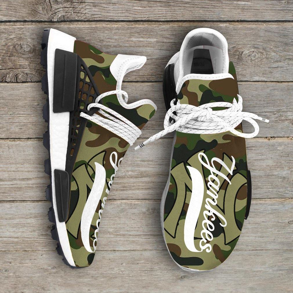 Camo Camouflage New York Yankees Mlb Sport Teams Nmd Human Race Sneakers Shoes