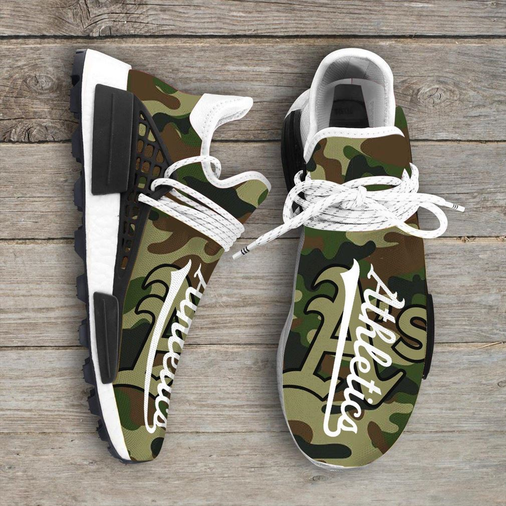 Camo Camouflage Oakland Athletics Mlb Sport Teams Nmd Human Race Sneakers Shoes