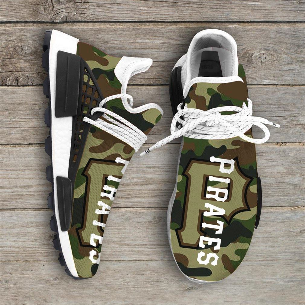 Camo Camouflage Pittsburgh Pirates Mlb Sport Teams Nmd Human Race Sneakers Shoes
