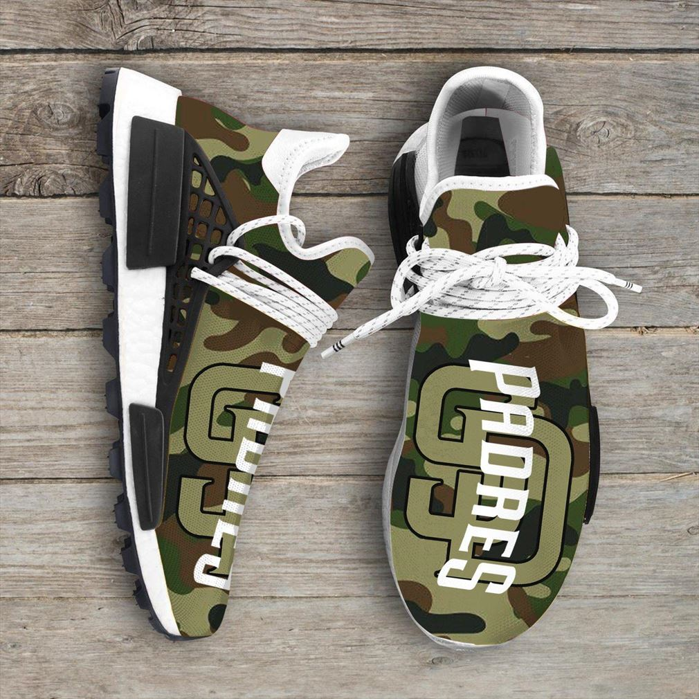 Camo Camouflage San Diego Padres Mlb Sport Teams Nmd Human Race Sneakers Shoes