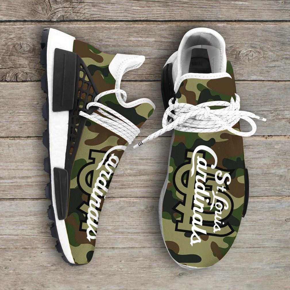 Camo Camouflage St Louis Cardinals Mlb Sport Teams Nmd Human Race Sneakers Shoes