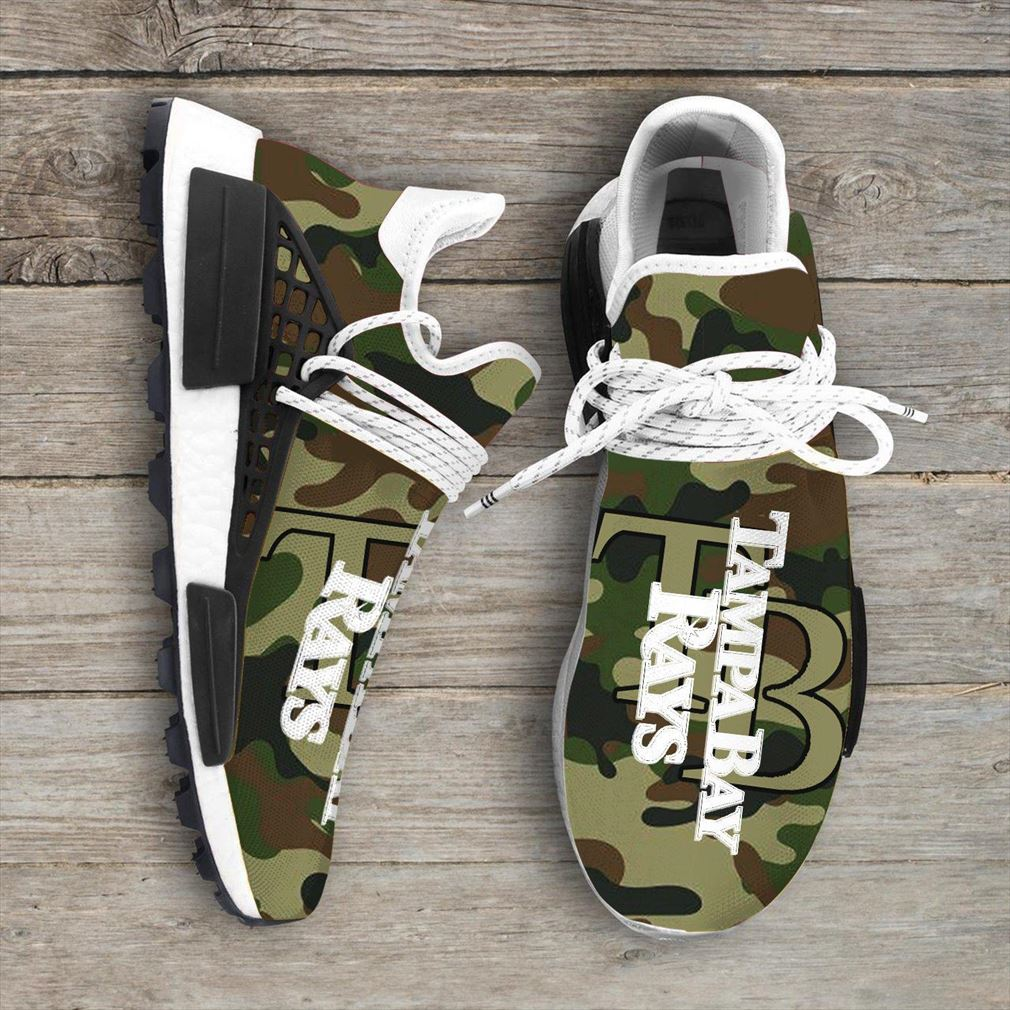 Camo Camouflage Tampa Bay Rays Mlb Sport Teams Nmd Human Race Sneakers Shoes