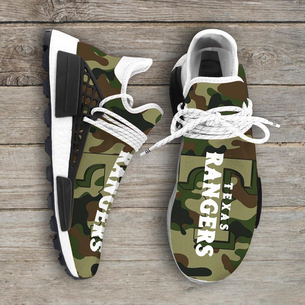 Camo Camouflage Texas Rangers Mlb Sport Teams Nmd Human Race Sneakers Shoes