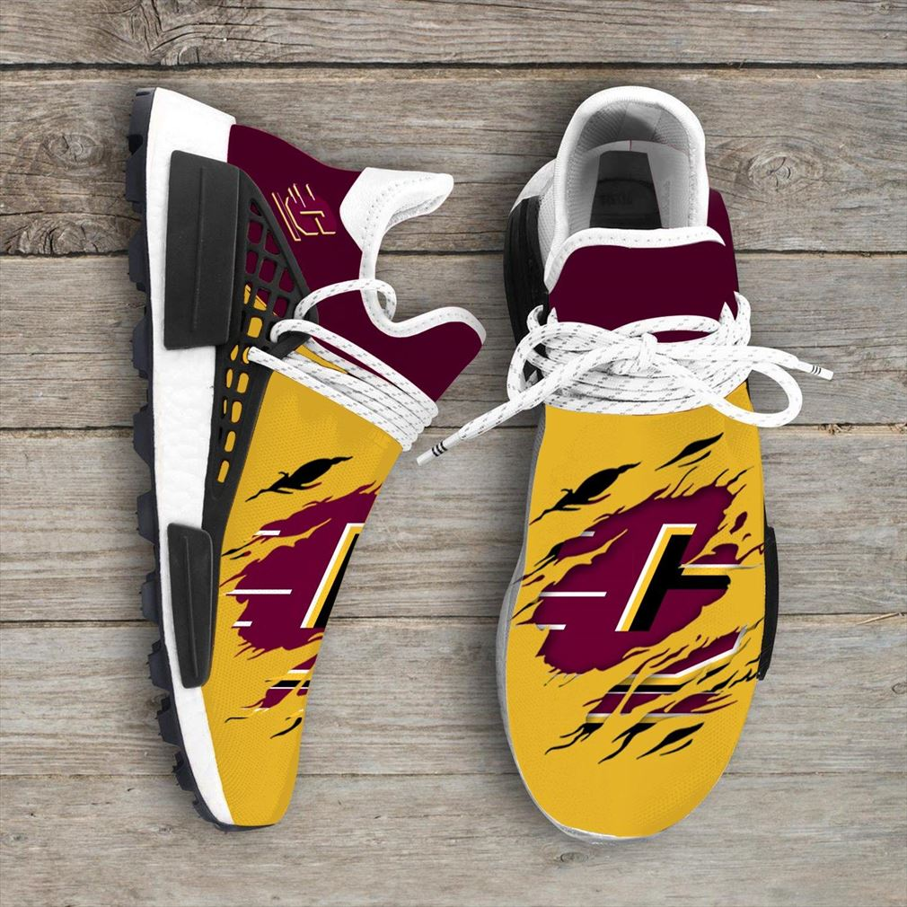 Central Michigan Chippewas Ncaa Sport Teams Nmd Human Race Shoes