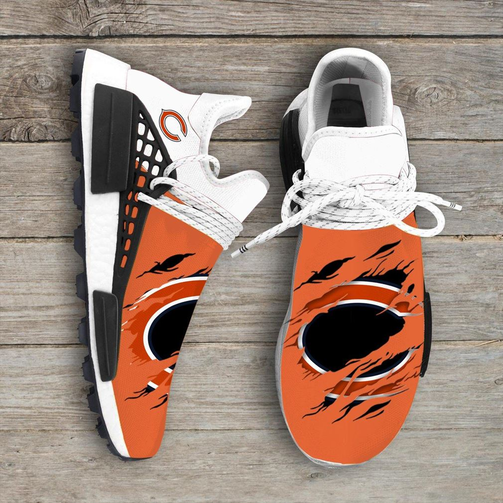 Chicago Bears Nfl Sport Teams Nmd Human Race Sneakers Sport Shoes Running Shoes