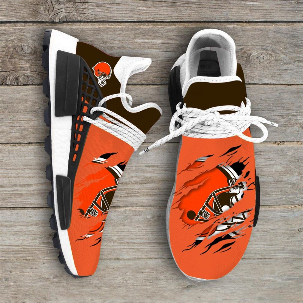 Cleveland Brown Nfl Sport Teams Nmd Human Race Sneakers Sport Shoes Running Shoes