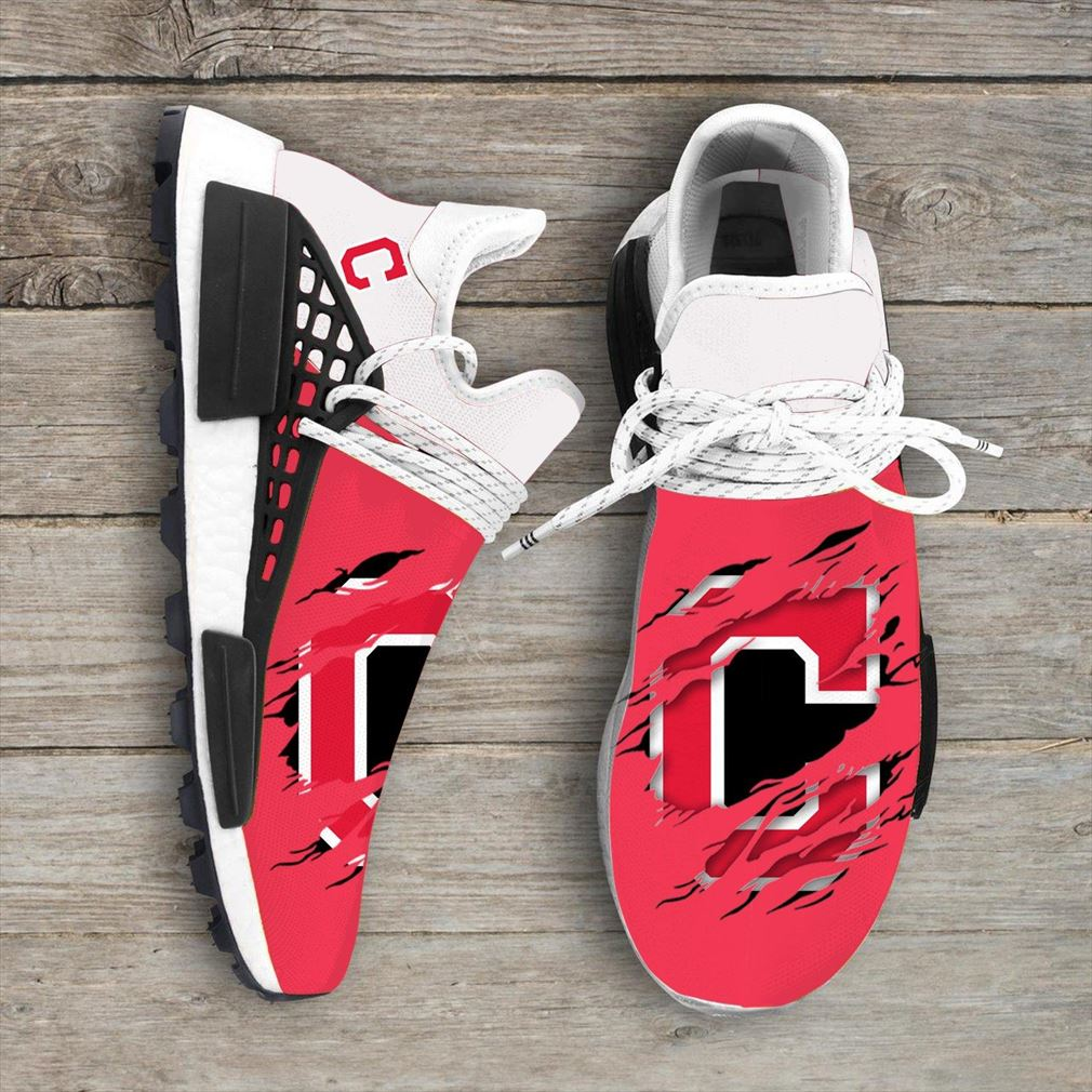 Cleveland Indians Mlb Nmd Human Race Shoes Sport Shoes