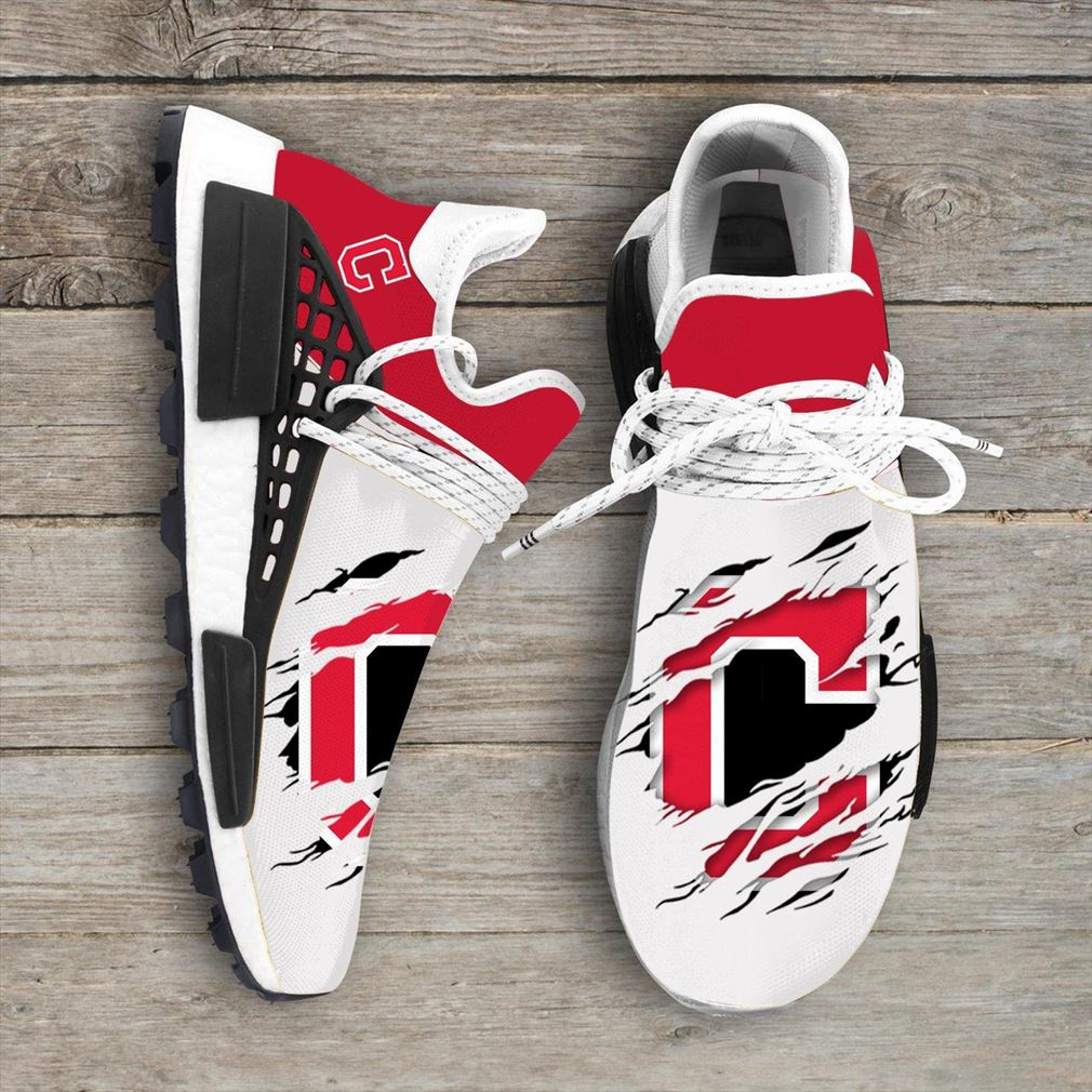 Cleveland Indians Mlb Sport Teams Nmd Human Race Sneakers Sport Shoes Running Shoes