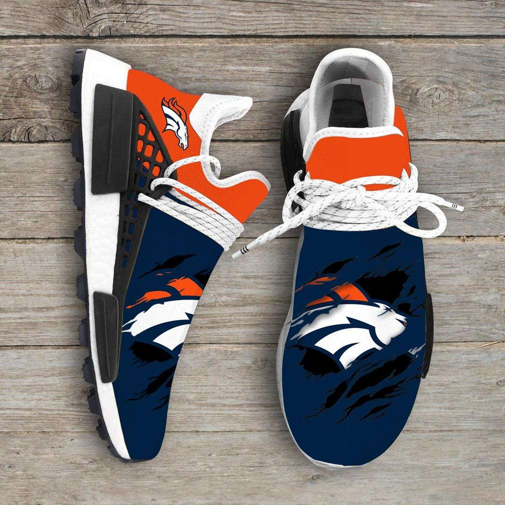 Denver Broncos Nfl Nmd Human Race Shoes Sport Shoes
