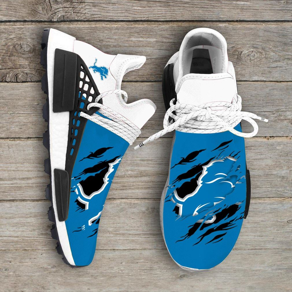 Detroit Lions Nfl Nmd Human Race Shoes Sport Shoes