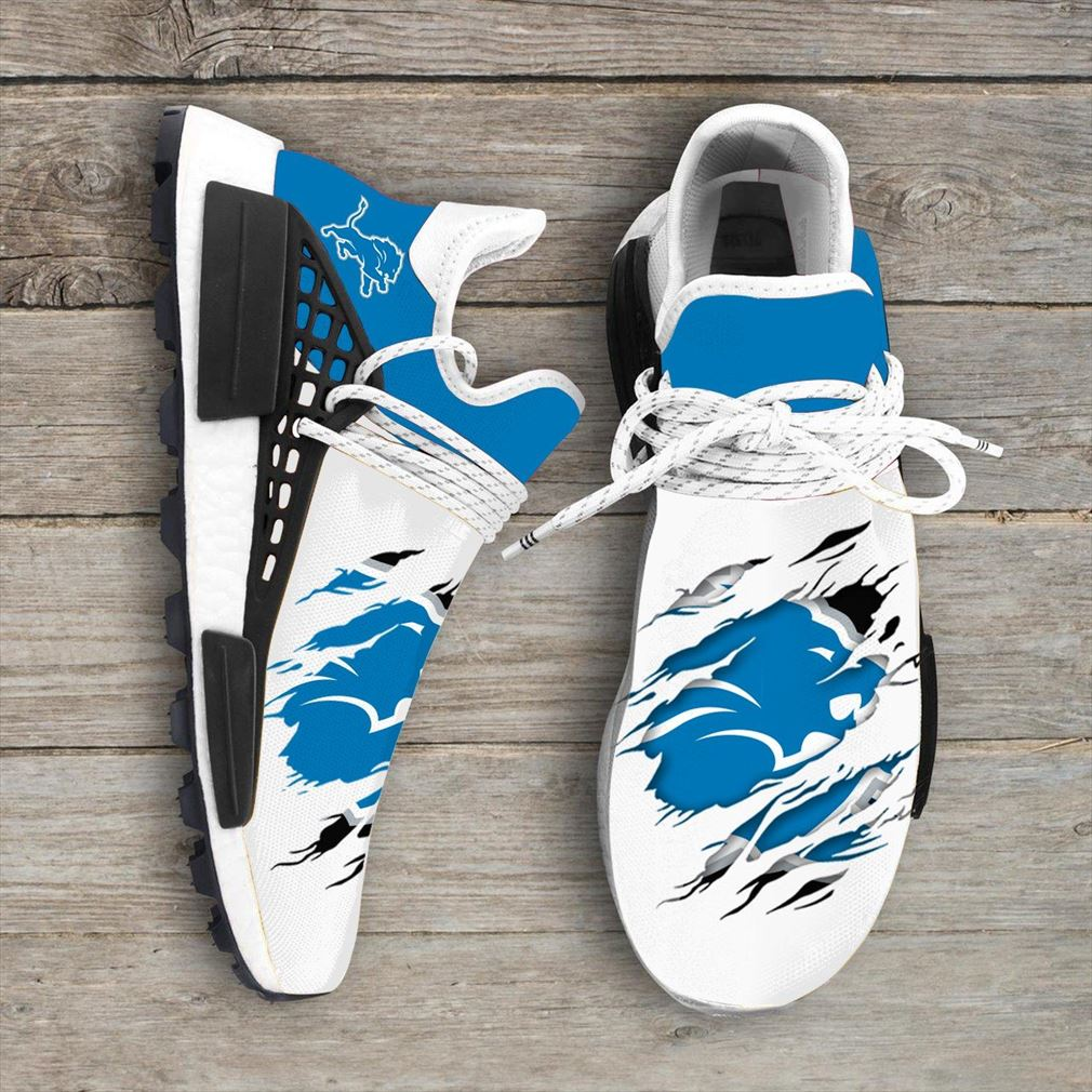 Detroit Lions Nfl Sport Teams Nmd Human Race Sneakers Sport Shoes Running Shoes