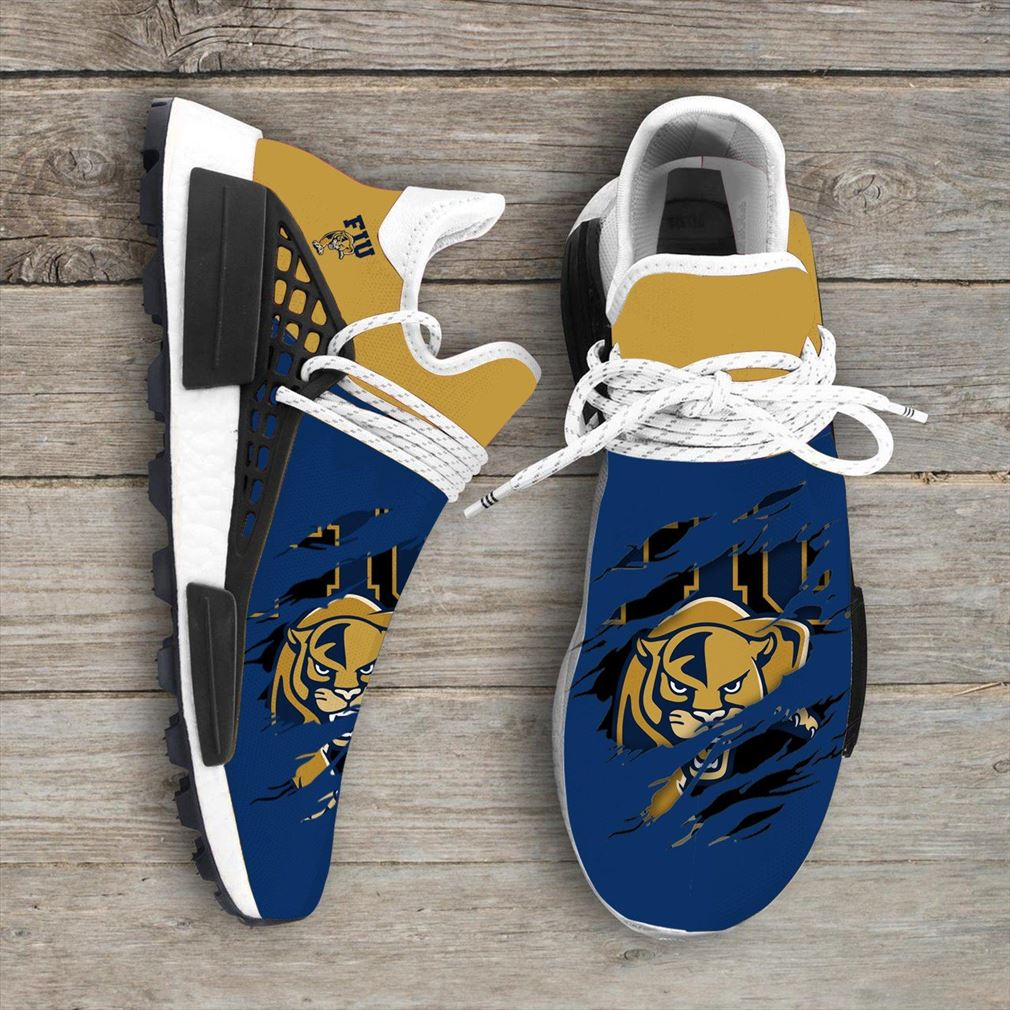 Fiu Panthers Ncaa Sport Teams Nmd Human Race Sneakers Shoes