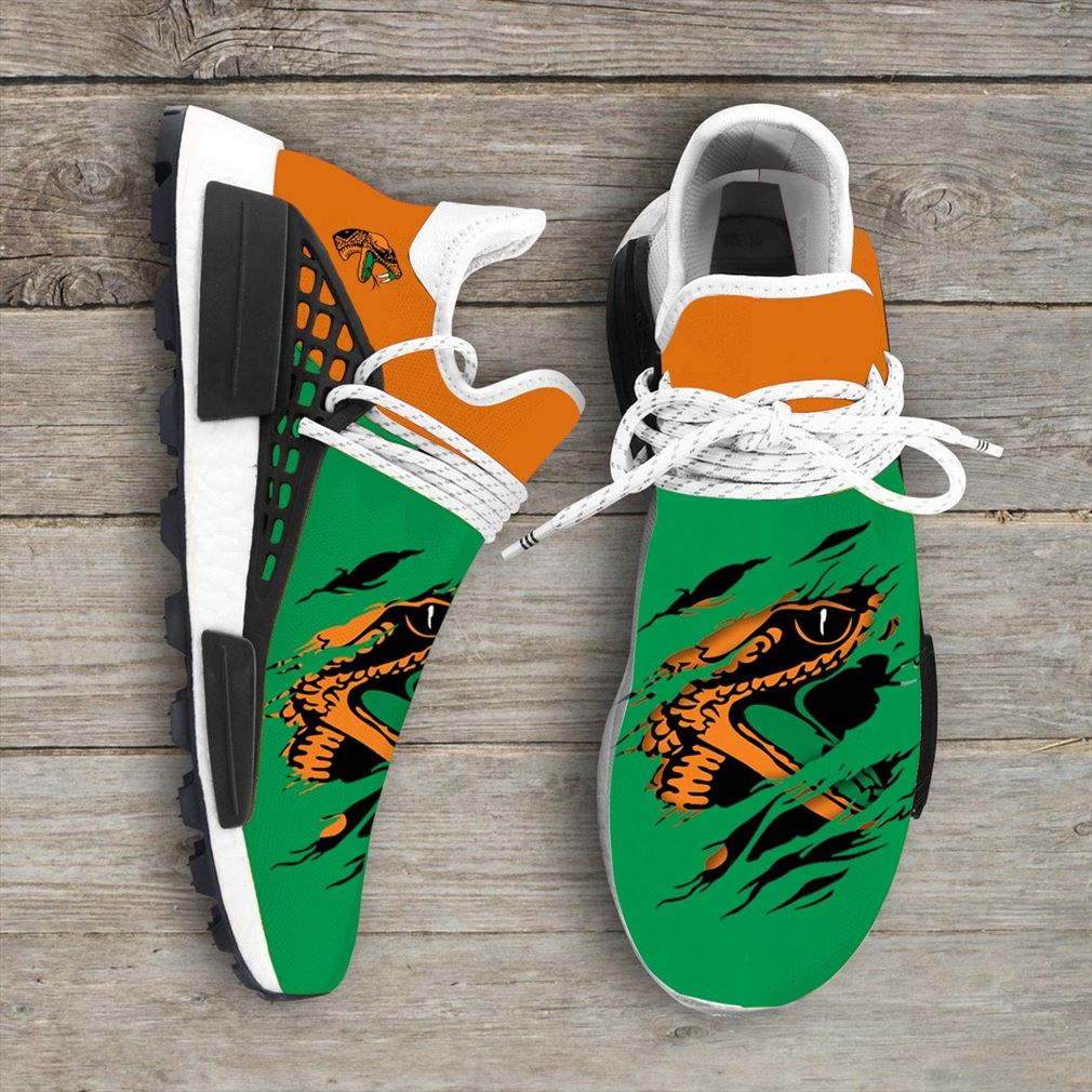 Florida Am Rattlers Ncaa Sport Teams Nmd Human Race Sneakers Shoes